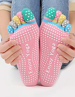 Pentru femei Șosete Șosete Sport Soșete degete picior Șosete Anti Alunecare Yoga PilatesRespirabil Purtabil Κατά του ιδρώτα Anti-derapare