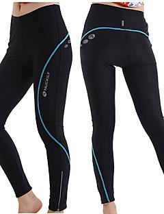 Nuckily Calças Elásticas para Ciclismo Mulheres Moto Meia-calça Calças Térmico/Quente Secagem Rápida Respirável Tiras Refletoras Tapete