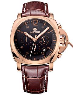 Pánské Sportovní hodinky Vojenské hodinky Hodinky k šatům Módní hodinky Náramkové hodinky Kalendář Křemenný Pravá kůže KapelaRetro Běžné