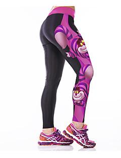 Dame Tights til jogging Fort Tørring Pustende Komprimering Elastisk Innerlag Tights Bunner til Yoga & Danse Sko Trening & Fitness