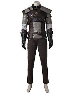 Inspireret af Snigmorder Ace video Spil Cosplay Kostumer Cosplay Kostumer Cosplay Toppe / Underdele Patchwork Grå GuldJakke Vest Hakama