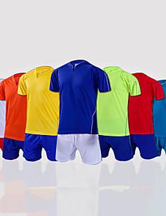 Herre Fotball Skjorte + shorts Klessett/Dresser Pustende Vår Sommer Høst Klassisk Mote 100% Polyester Fotball Gul Hvit Rød Himmelblå