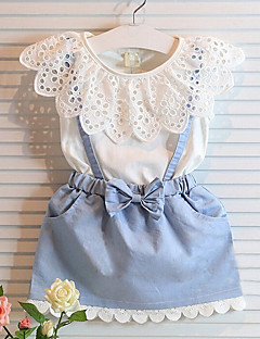 Mädchen Kleid einfarbig Baumwolle Sommer Ärmellos