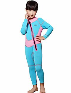 Dive&Sail 아동 2mm 전신 잠수복 따뜨하게 유지 빠른 드라이 인체 해부학적 디자인 통기성 네오프렌 잠수복 긴 소매 다이빙 복-수영 다이빙 봄 여름 클래식