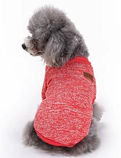Kediler Köpekler Paltolar Tişört Köpek Giyimi Kış İlkbahar/Kış Solid Sevimli Moda Sporlar Kırmzı Yeşil Mavi Pembe Açık Mavi