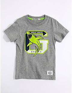 T-Shirt Lässig/Alltäglich Tiermuster Druck Baumwolle Sommer Kurzarm