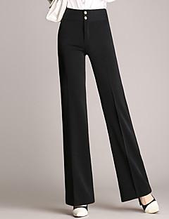 Naiset Yksinkertainen Joustamaton Chinos housut Housut,Ohut Keski vyötäröYhtenäinen