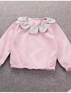 bebê Camiseta-Casual Cor Única-Algodão-Primavera-