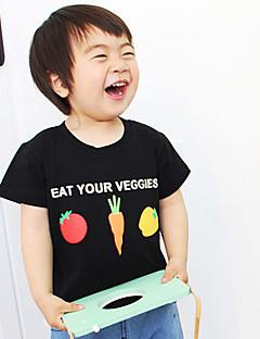 Muoti Piirretty Painettu T-paita Puuvilla Kesä Lyhythihainen Normaali