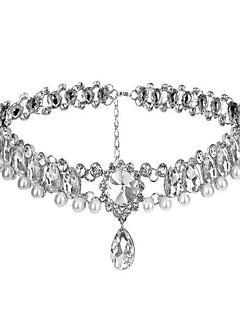 Klassiek en Tradtioneel Lolita Halsketting Glitter & Sprankel Zilver Lolita-accessoires Halsketting Voor Kunst Edelstenen