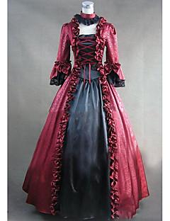 Yksiosainen/Mekot Gothic Lolita Lolita Cosplay Lolita-mekot Vintage Holkki Pitkähihainen Täysipitkä Leninki varten Muuta