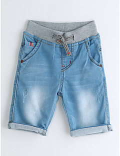 Gutt Jeans Helfarve Ensfarget Bomull Sommer