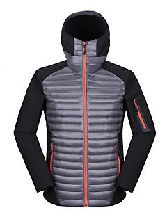 コート ダウン メンズ,カジュアル/普段着 カラーブロック ナイロン ホワイトグースダウン-シンプル 長袖