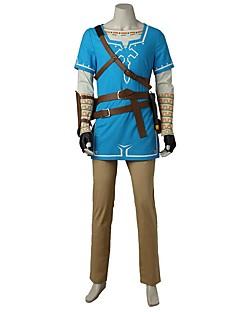 Inspireret af The Legend of Zelda Cosplay video Spil Cosplay Kostumer Cosplay Kostumer Mode Trøje Top Bukser Handsker Taske Mere Tilbehør