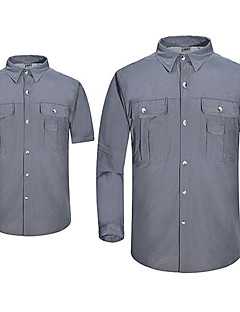 Homens Camisa de Trilha Secagem Rápida A Prova de Vento Anti-desgaste Blusas para Pesca Casual Viajar Sertão Interior Verão Outono S M L