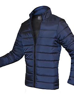 コート レギュラー パッド入り メンズ,お出かけ カジュアル/普段着 ソリッド コットン レーヨン コットン-シンプル 活発的 長袖