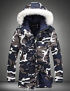 コート レギュラー パッド入り メンズ,カジュアル/普段着 カモフラージュ コットン ポリプロピレン-ストリートファッション 長袖