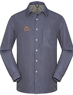 Homens Camisa de Trilha Secagem Rápida Resistente Raios Ultravioleta Vestível Anti-Estático Respirável Blusas para Acampar e Caminhar
