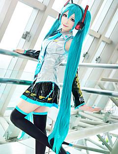 Perucas de Cosplay Vocaloid Hatsune Miku Azul Extra Longo / Reto Anime/Games Perucas de Cosplay 120 CM Fibra Resistente ao Calor Feminino