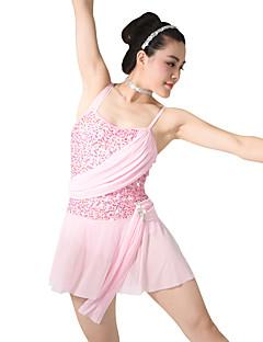 Ballet Jurken Dames Kinderen Opleiding elastan Lovertjes Ruches Mouwloos Natuurlijk