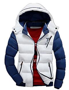 コート レギュラー パッド入り メンズ,カジュアル/普段着 カラーブロック コットン ポリプロピレン-シンプル 長袖