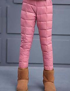 Mädchen Hose einfarbig Baumwolle Polyester Winter