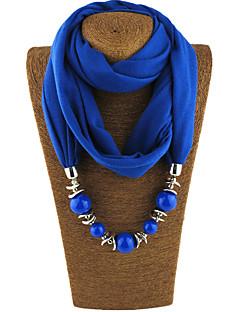 Damen Ganzjährig Aleación Perle Infinity-Schal,Solide