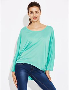Tee-shirt Femme,Imprimé Décontracté / Quotidien simple Printemps Manches Courtes Col Arrondi Coton