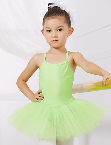 9a45080b Ballet Trikoter Trening / Ytelse Spandex / Tyll Ermeløs Prinsesse Kjole /  Ballett