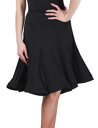 389c4ec52c00 Latinské tance Spodní část oděvu Dámské Výkon Spandex Sklady Bez rukávů  Spuštený Sukně