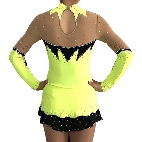 2c7057bd32bc 1/4. Prime Service. RM 359.32. Rhythmic Gymnastics Leotards Women's / Girls'  Leotard Yellow Spandex High Elasticity Competition Handmade Print / Shading  ...