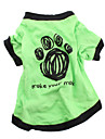 Chien Tee-shirt Vert Vêtements pour Chien Eté Lettre et chiffre Décontracté / Quotidien