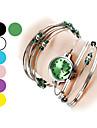pentru Doamne Ceas La Modă Ceas Brățară Quartz Aliaj Bandă Brățară rigidă Argint Mov Galben Verde Roz Albastru Deschis