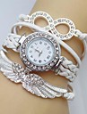pentru Doamne Ceas La Modă Ceas Brățară Simulat Diamant Ceas Quartz aripă imitație de diamant Piele Bandă Sclipici BoemAlb Albastru Roșu