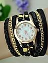 pentru Doamne Ceas La Modă Ceas Brățară Quartz Coarda braided PU Bandă Vintage Boem Negru Alb Albastru Roșu Maro Verde Pink VioletMaro
