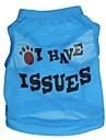 Chat Chien Tee-shirt Bleu Vetements pour Chien Ete Lettre et chiffre Cosplay