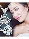 Dame Coliere cu Pandativ Animal Shape Dolphin Plastic Cristal La modă costum de bijuterii Bijuterii Pentru Petrecere Zilnic Casual