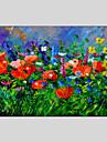 Peint a la main A fleurs/BotaniqueModern / Classique / Traditionnel / Style europeen Un Panneau Toile Peinture a l\'huile Hang-peint For