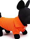 Chien Tee-shirt Rouge Orange Jaune Vert Bleu Incanardin Vetements pour Chien Ete Printemps/Automne Couleur Pleine Decontracte / Quotidien