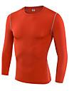 Homme Tee-shirt de Course Manches Longues Sechage rapide Respirable Compression Anti-transpiration Course Ultra leger (UL) Haute