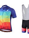 Miloto Maillot et Cuissard a Bretelles de Cyclisme Homme Manches Courtes Velo Cuissard a bretelles Chemise Shirt Maillot Collant a
