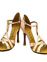 Chaussures de danse(Rose) -Personnalisables-Talon Personnalise-Satin-Latine Salon