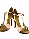 Chaussures de danse(Violet) -Personnalisables-Talon Personnalise-Satin Paillette Brillante-Latine Salon