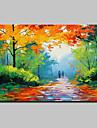 Peint a la main Paysage Paysages Abstraits Horizontale,Moderne Un Panneau Toile Peinture a l\'huile Hang-peint For Decoration d\'interieur