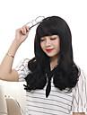 Femme Perruque Synthetique Sans bonnet Mi Longue Ondules Marron Noir Fonce Marron / Medium Auburn Cheveux Colores Perruque Naturelle
