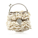 זול צמיד אופנתי-Gorgeous Satin Shell Evening Handbags/ Clutches/ Top Handle Bags More Colors Available