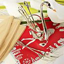 baratos Velas para Lembrancinhas-Forquilha de fruta em aço banhado a prata de 6 peças ajustada em favores de casamento de suporte de cisne