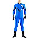 hesapli Banyo Aksesuarları-Zentai Kıyafetleri Ninja Zentai Cosplay Kostümleri Mavi Solid Strenç Dansçı / Tulum / Zentai / Kedikıyafeti Likra Erkek / Kadın's Cadılar Bayramı / Yüksek Elastikiyet
