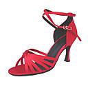 ieftine Pantofi Dans Latin-Pentru femei Pantofi Dans Latin / Sală Dans Satin Sandale / Călcâi Cataramă Toc Stilat NePersonalizabili Pantofi de dans Auriu / Rosu / Piele