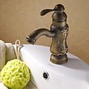 billige Baderomskraner-Tradisjonell setesett keramisk ventil ett hulls enkelthåndtak ett hulls antikke kopper, badevaskkraner, badekraner